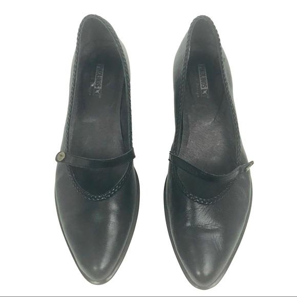 f94b3f8eba7d PIKOLINOS Shoes - PIKOLINOS low heel Mary Jane style black shoe 39